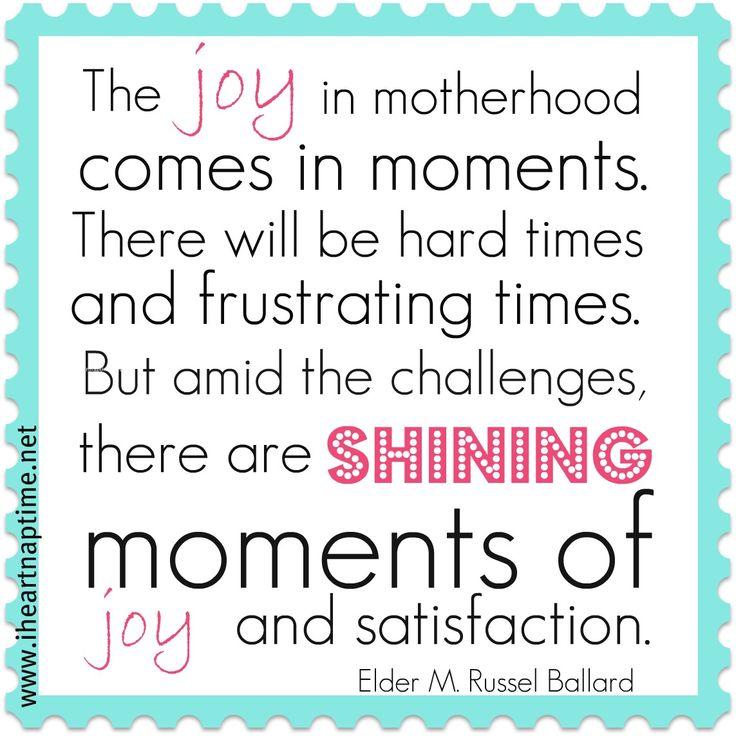 the joy in motherhood