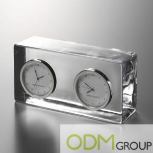 Corporate Gift Idea: Crystal International Clock