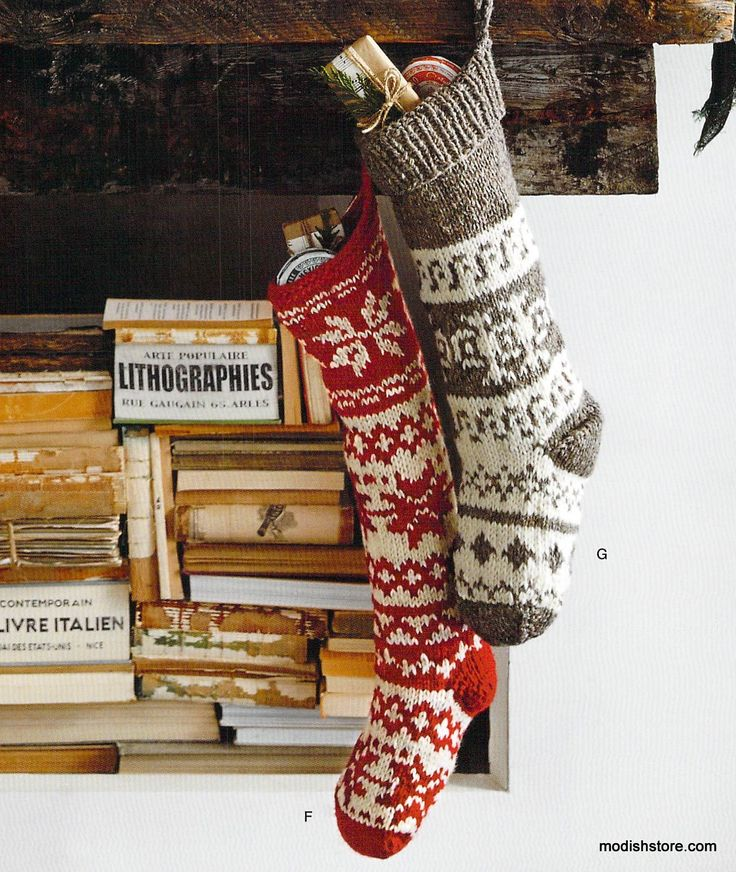 Roost Snowflake Knit Stockings