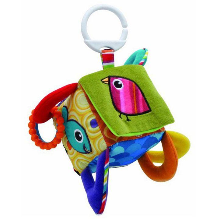 Erken eğitim mobil bebek oyuncak kuş meydanı peluş blok debriyaj küp sallandı bebek toys 0-12 ay -- byc006 pt30