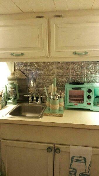 Vintage camper kitchen.  1967 Serro Scotty.  Camper restoration.
