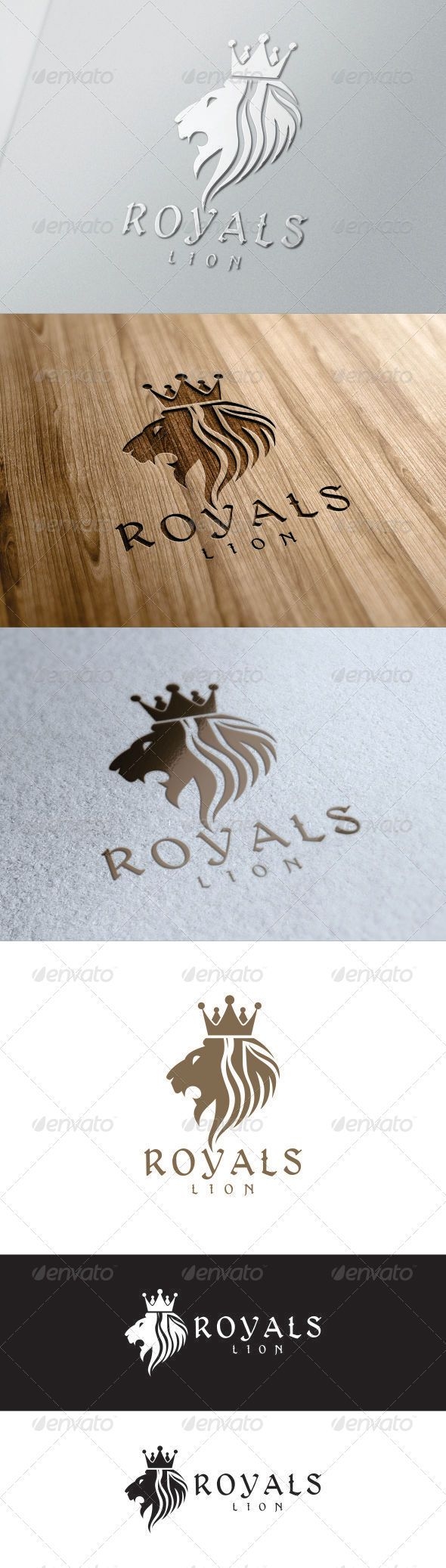 Lion King Royal Logo  #GraphicRiver