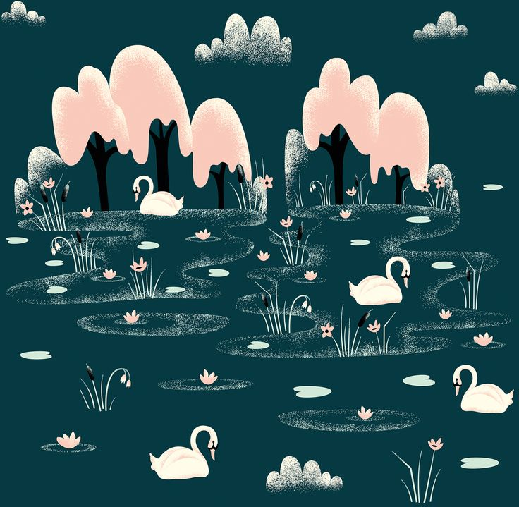 "Pattern called ""Swan lake"". By Sanna Kivioja."