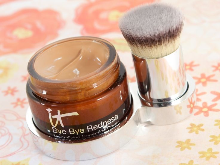 IT Cosmetics Bye Bye Redness is a miracle, lifesaver product. Corrects redness and blends so seamlessly that you don't see makeup, just pretty skin.