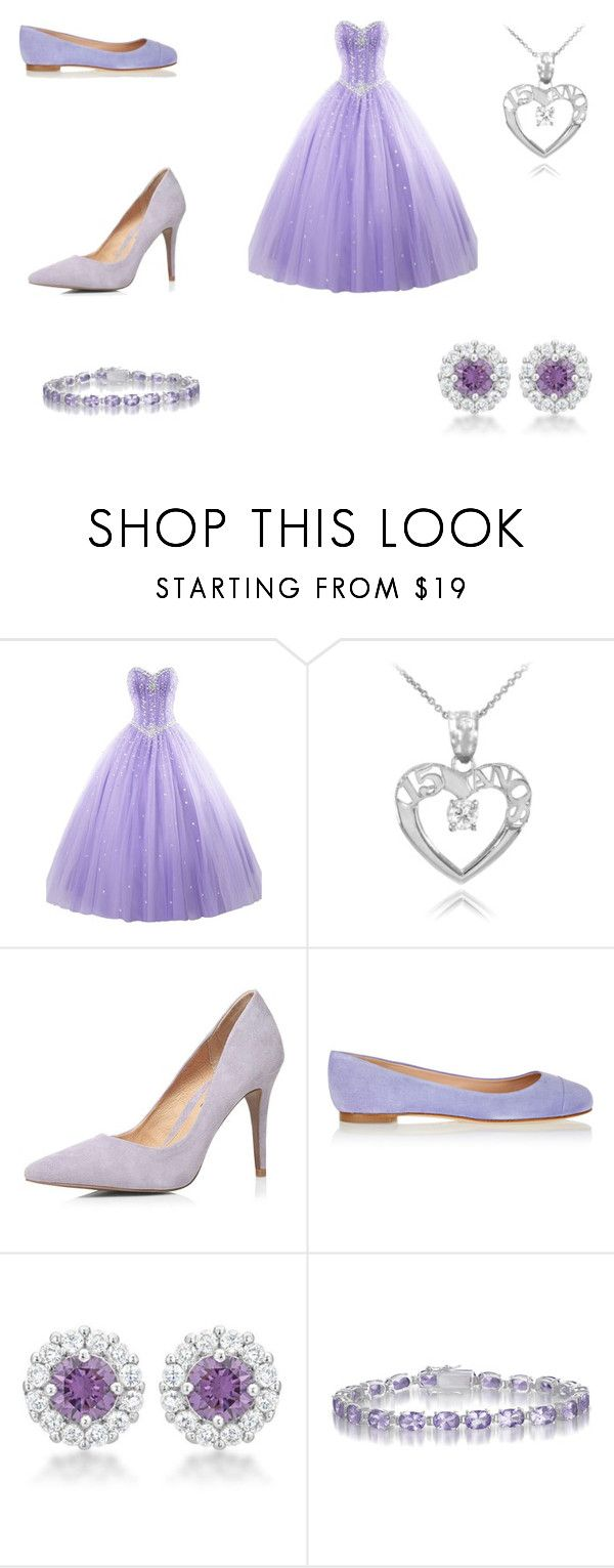 """Lavender Quinceanera"" by flairxmatrix ❤ liked on Polyvore featuring Dorothy Perkins, Sergio Rossi and Collette Z"