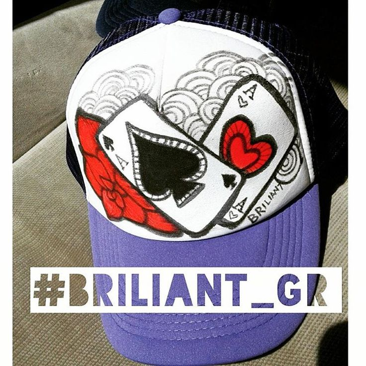 3w briliant_grFollow @briliant_gr for more art on hats !!! #briliant_gr #brilianthatproject #briliantgr #ace #aces #cards #art #artontruckerhat #artonhat #hat
