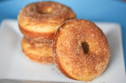 Maple Cinnamon-Sugar Baked Doughnuts