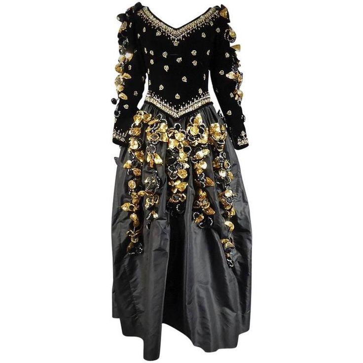 Pierre Balmain Haute Couture Dress numbered 165-578 | From a collection of rare vintage ball-gowns at https://www.1stdibs.com/fashion/clothing/evening-dresses/ball-gowns/