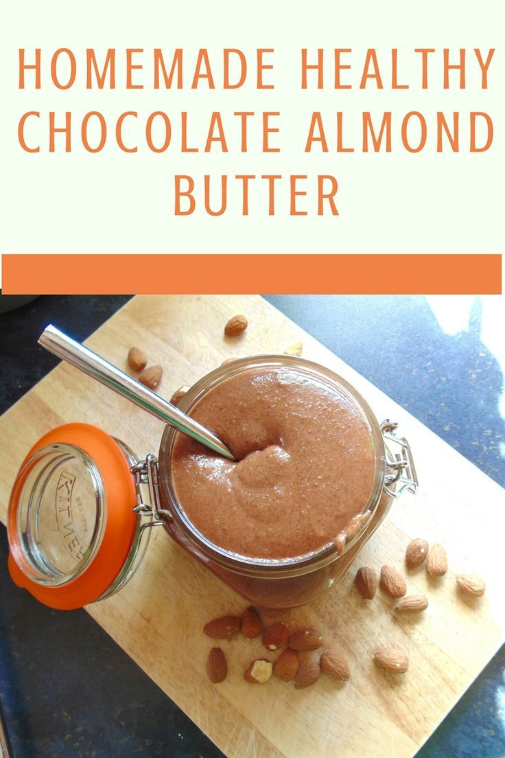 Sweet, salty and deliciously chocolatey healthy homemade almond butter!