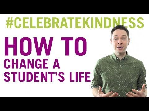 How to change a student's life | No Name-Calling Week | Author Tim Federle shares a special message for teachers via YouTube #celebratekindness