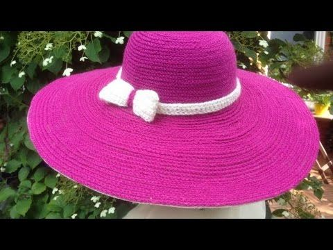 How To Make A Beautiful Crochet Summer Hat - DIY Style Tutorial - Guidecentral - YouTube