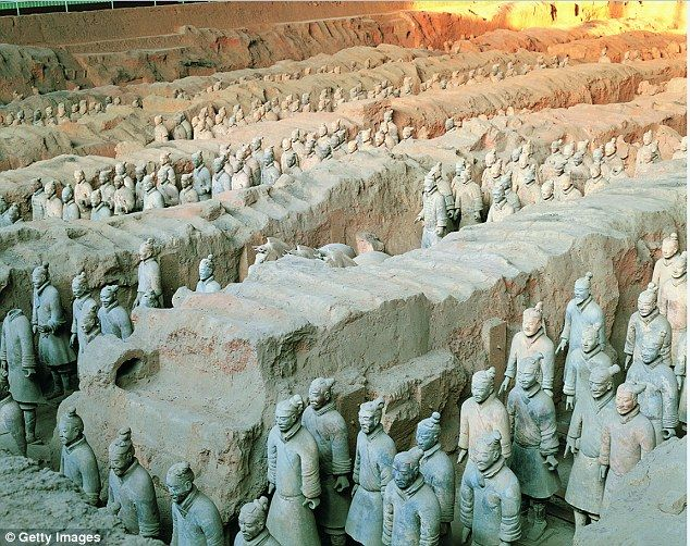 A report , outlined in an upcoming BBC documentary, suggests China was in contact with ancient Greek artists 1,500 years before Marco Polo arrived in the east. The controversial claim is based on two pieces of evidence, one involves the Terracotta Warriors