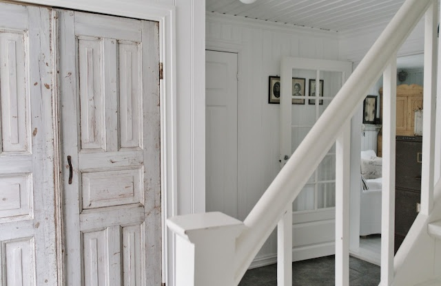 Crazy about the salvaged doors!!