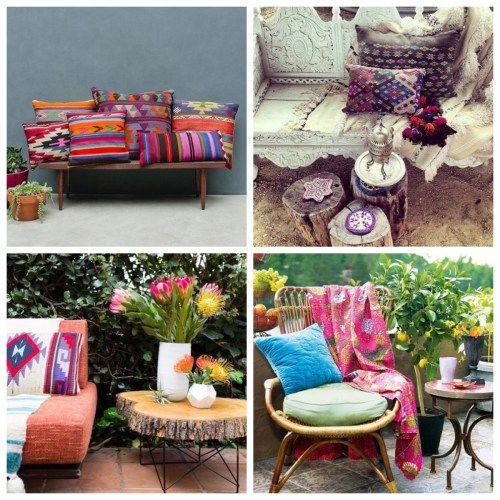 Decoraci n terrazas y patios boho chic bujaren color - Decoracion de patios y terrazas ...