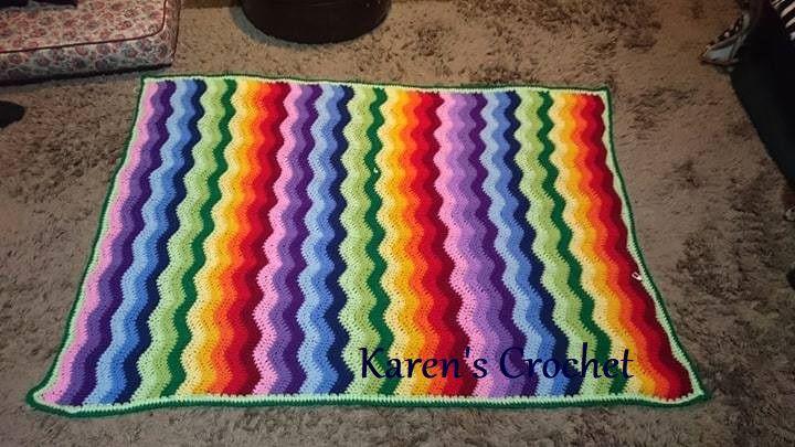 Rainbow Ripple made for my beautiful grandson. :)