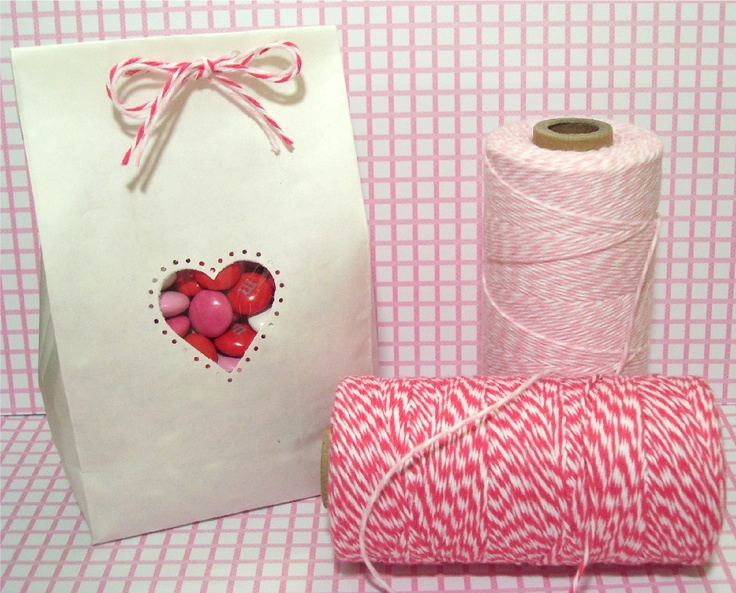Valentine's Day baggie with baker's twine