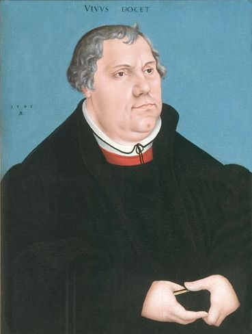 Painting by Lucas Cranach the Elder, 1546, Portrait of Maarten Luther (1483-1546).