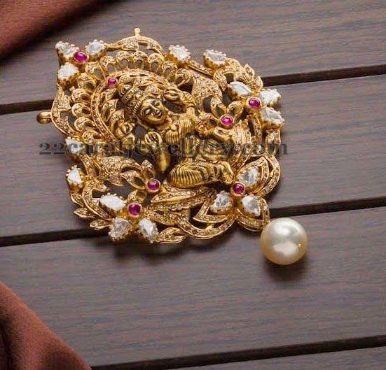 Adorable Goddes Lakshmi Pendant | Jewellery Designs
