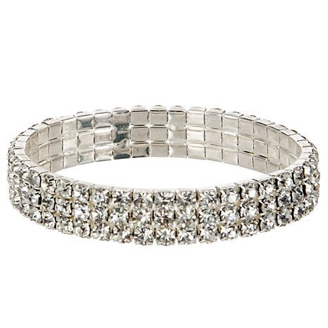 Buy John Lewis Diamanté Sparkle Bracelet, Silver Online at johnlewis.com