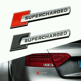 Supercharged Logo Stickers 3D Chrome Badge Logo Sticker For Car & Bike. Wholsale Price. HD Look Top Quality Metal. Wholesale Price. Offer Store Promotion Price Just Rs. 260