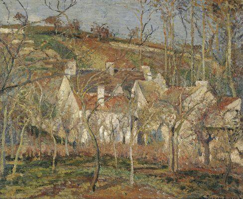Les toits rouges, par Camille Pissarro