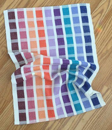 color block towel