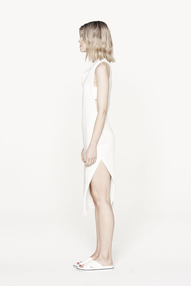 THIRD FORM RESORT 15 | DIVIDER DRESS  #thirdform #fashion #streetstyle #minimal #trend #chic #dress #white #pinstripe