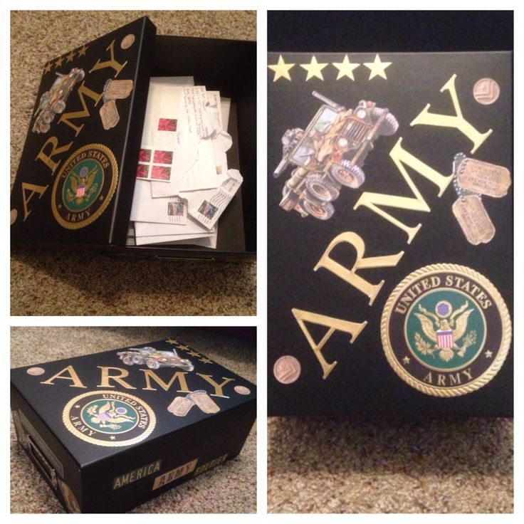 DIY letter box to keep all the letters you get from your hunny in the service :)