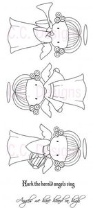 *C.C. Designs THREE ANGEL EMMA Rubber Stamps Set