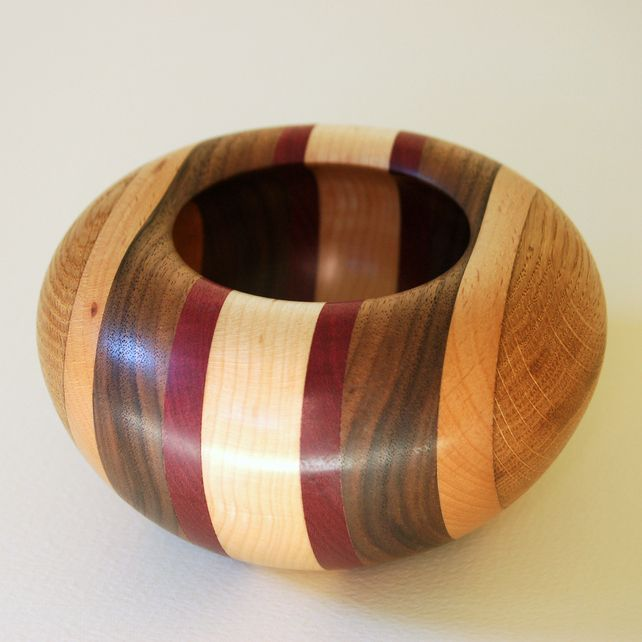 Segmented Wooden Bowl 135 mm x 67 mm £25.00