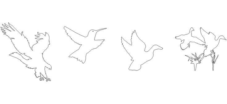 Dwg Adı : Kuş çizimleri  İndirme Linki : www.dwgindir.com/puansiz/puansiz-2-boyutlu-dwgler/puansiz-insan-ve-hayvanlar/kus-cizimleri.html
