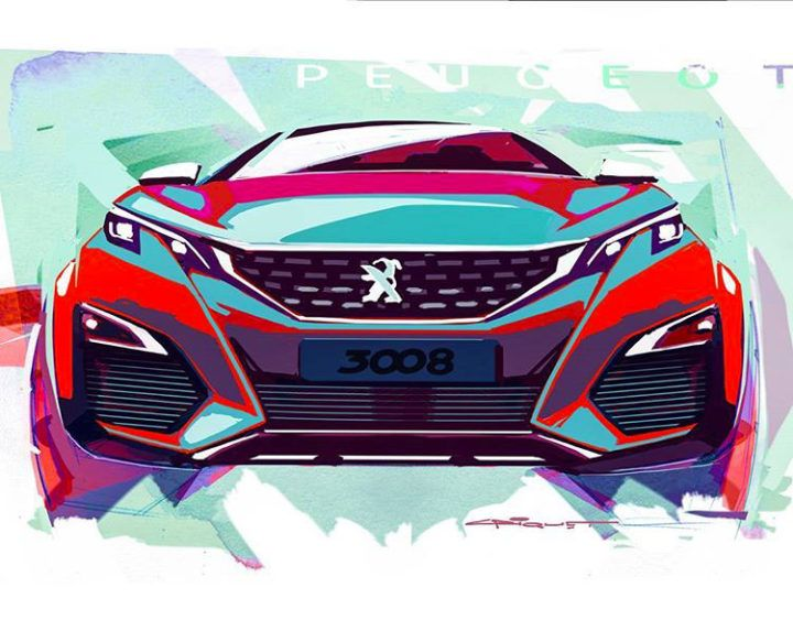 Peugeot 3008 | design sketch by Sebastien Criquet