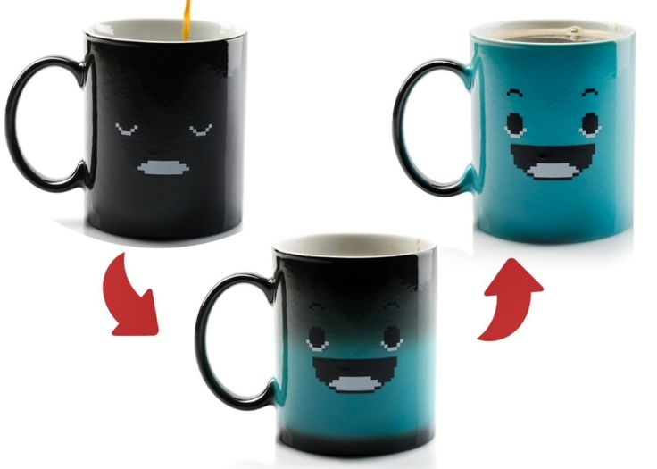 Color Changing Coffee Mug    Funny coffee mug that changes color when it's heated.This mugchanges color completely, not just partially. The Changing Color Mugis special because when it is empty and cold, it looks like it just has a sleeping face on it. But when you add some hot liquids, the whole mug brightens,...  Continued at: http://www.walletwrecker.com/color-changing-coffee-mug/