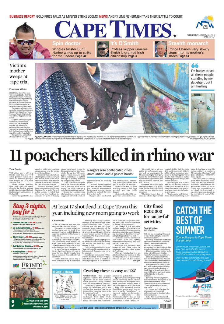 News making headlines: 11 poachers killed in rhino war