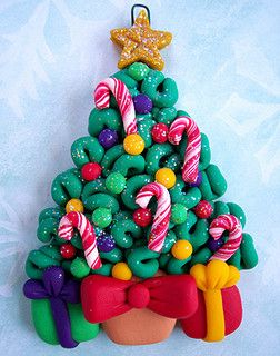 polymere clay fimo sapin noel