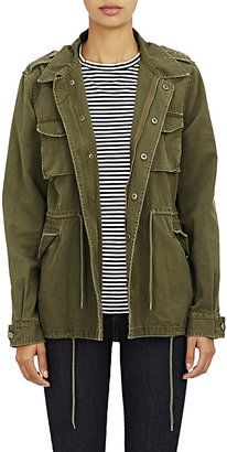 Shop Now - >  https://api.shopstyle.com/action/apiVisitRetailer?id=486796760&pid=2254&pid=uid6996-25233114-59 Barneys New York Women's Canvas Army Jacket  ...