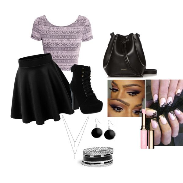 random outfit by bunnykayes on Polyvore featuring polyvore fashion style H&M Chelsea Crew Rachael Ruddick BCBGeneration GUESS Karen Kane Clarins