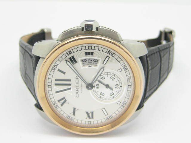 17 best images about pre owned mens watches rose calibre de cartier automatic steel rose gold date used men watch