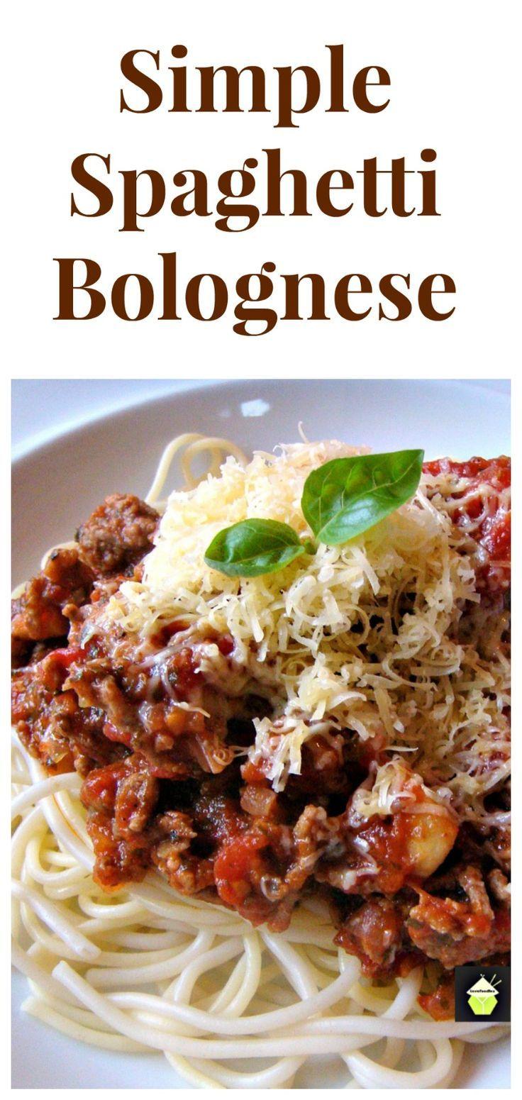 Simple Spaghetti Bolognese on Pinterest | Spaghetti Bolognese, Easy ...