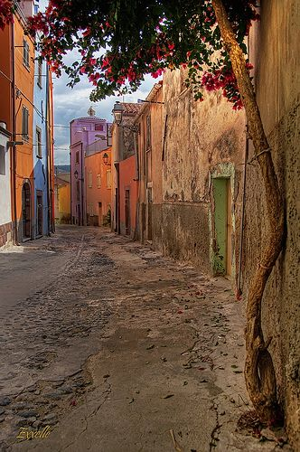 Colorful Houses in Bosa, Sardinia, Italy