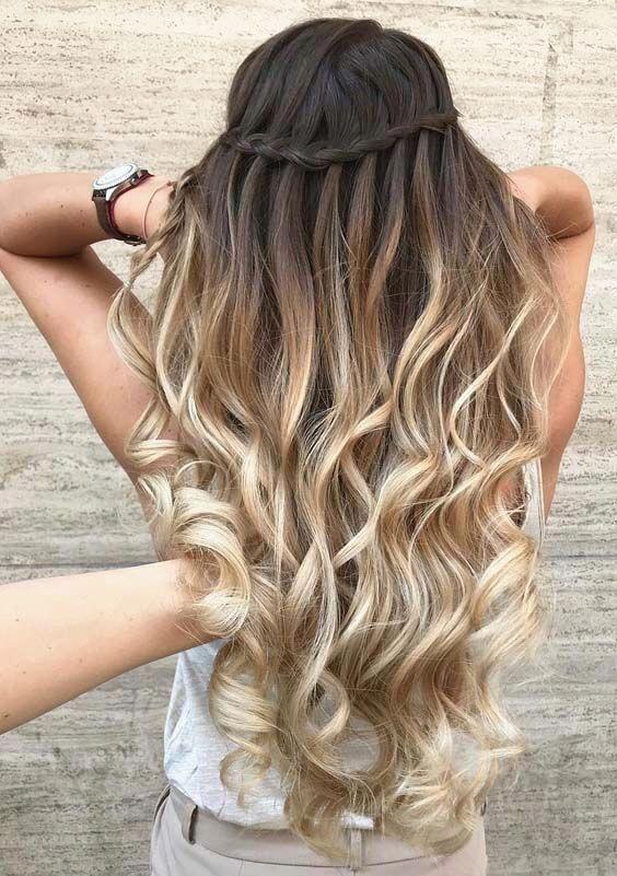 The waterfall braids hairstyle. #wavy #wavyhair #wavyhairstyles #wavybobhairstyles #wavycu