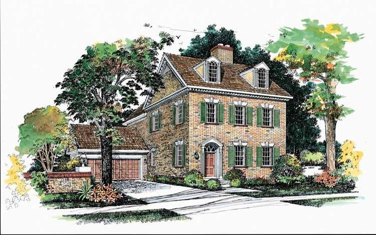 This+Early+American+brick+exterior+serves+as+a+lovely+introduction+to+a+ thoroughly+modern+floor+plan.+The+tiled+foyer+opens+through+decorative+columns+ to+the+formal+living+room,+which+offers+a+fireplace+framed+by+built-in+ cabinetry.+The+convenient+island+kitchen+offers+a+snack+bar+and+opens+to+a+ conversation+room+with+a+bay+window+and+a+hearth.+Second-floor+sleeping+ quarters+offer+a+master+suite+with+its+own+fireplace,+a+bumped-out+bay+window+ and+a+lavish+bath+with+a+whirlpool+tu...