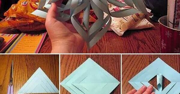 How to Make a 3D Paper Snowflake | 3d Paper Snowflakes, Paper Snowflakes and 3d Paper