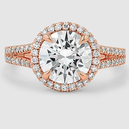 Our 14K Rose Gold Fortuna Diamond Ring set with a 2.29 carat diamond. #Brilliant…