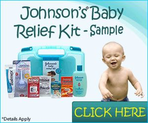 Claim your Johnsons Baby Relief kit which includes everything from diaper rash ointment to infant's Tylenol.