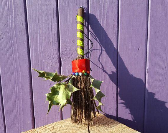 Yule Besom Miniature Broomstick Winter Solstice Pagan