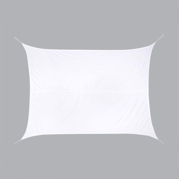 Voile d'ombrage Rectangulaire (3 x 4 m) Curacao Blanc : choisissez parmi tous nos produits Voile d'ombrage