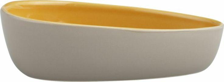 Olson Grey-Orange Bowl  | Crate and Barrel