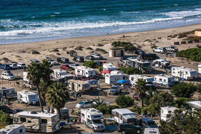 Guide to beach camping and campgrounds near Santa Barbara, California - location, description, fees, how to make reservations