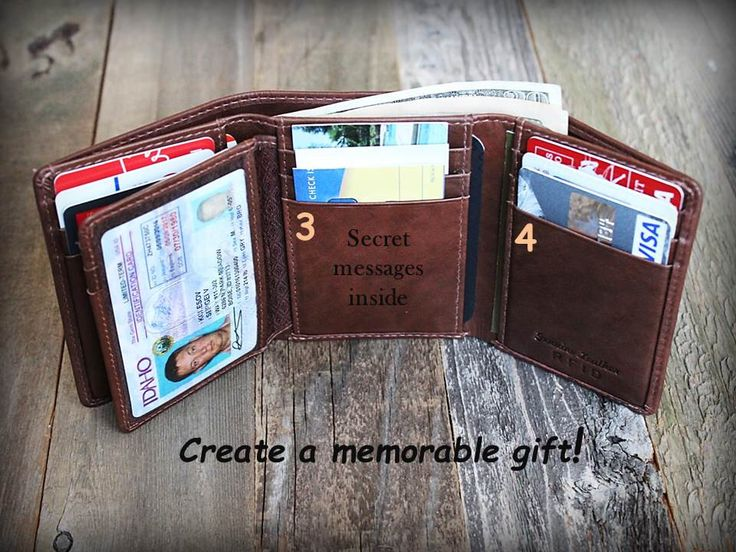 Valentine's Gift for him - Trifold Mens Wallet - Personalized Mens Wallet - RFID Wallet - Gift for Dad - Leather Mens Wallet - Toffe - 7133 by SandSLeatherCraft on Etsy https://www.etsy.com/listing/265344429/valentines-gift-for-him-trifold-mens